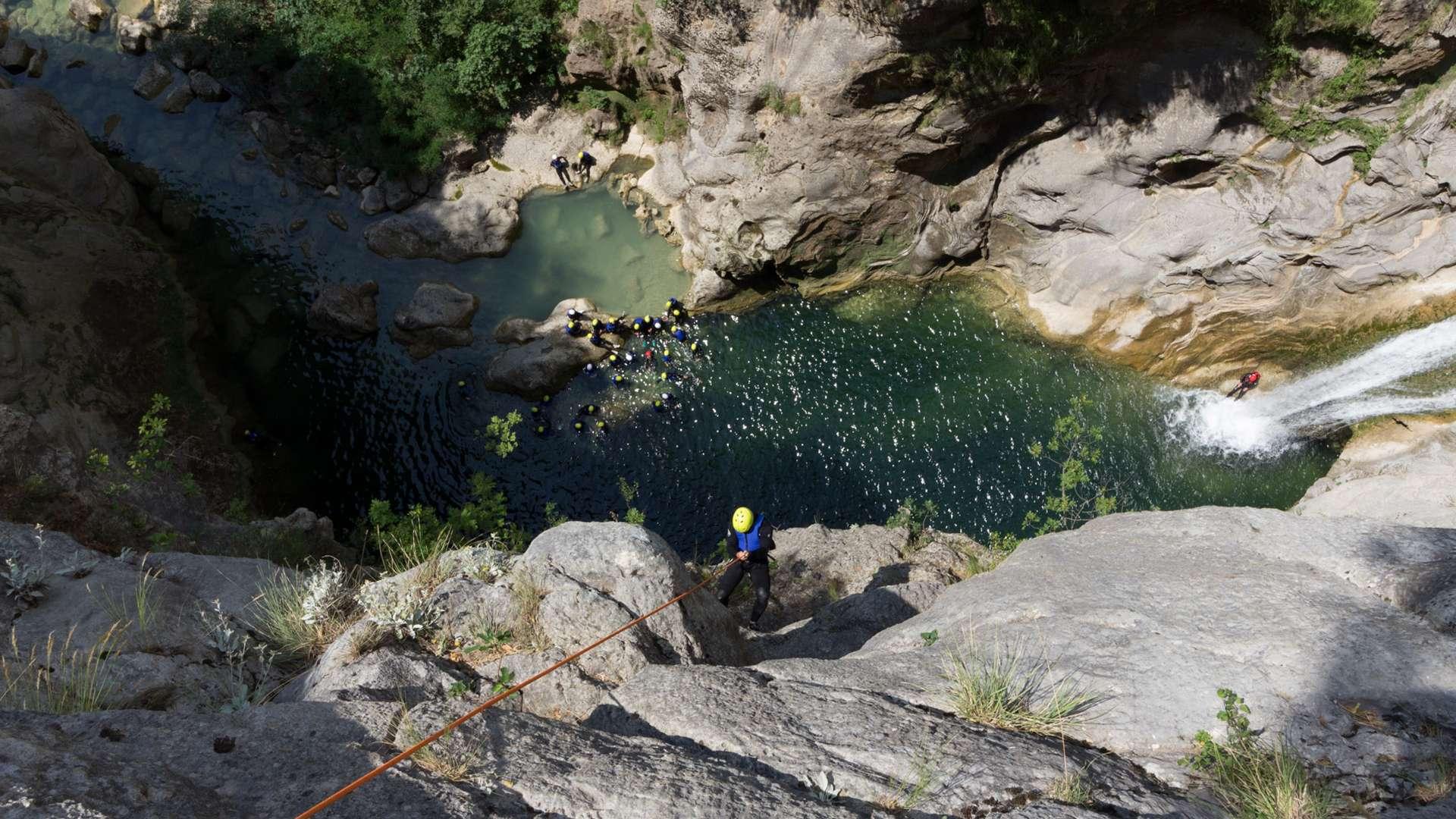 extreme canyoning tour river Cetina